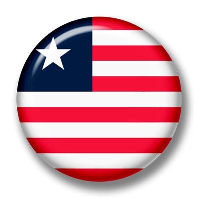 リベリア共和国の国旗-缶バッジ