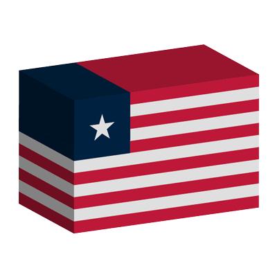 リベリア共和国の国旗-積み木