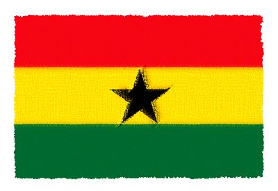 ガーナ共和国の国旗-パステル