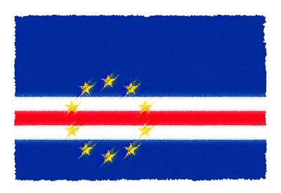 カーボヴェルデ共和国の国旗-パステル
