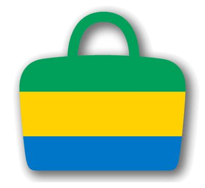 ガボン共和国の国旗-バッグ