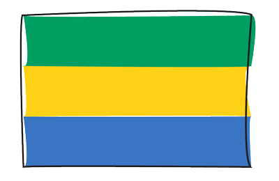 ガボン共和国の国旗-グラフィティ