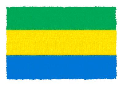 ガボン共和国の国旗-パステル