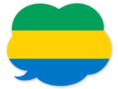 ガボン共和国の国旗-吹き出し