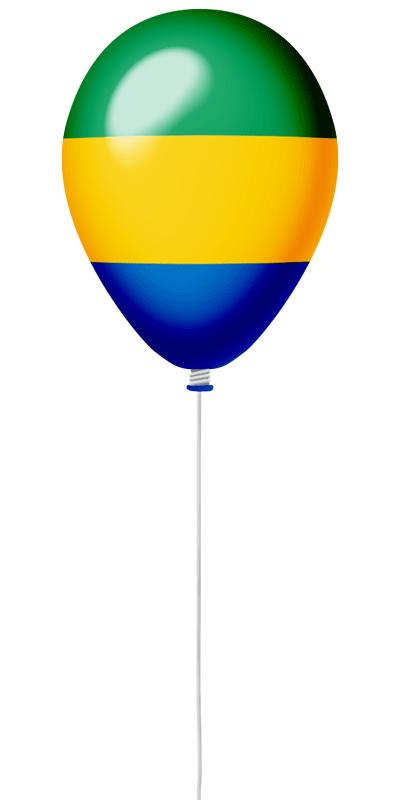 ガボン共和国の国旗-風せん