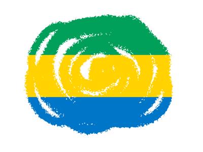 ガボン共和国の国旗-クラヨン2