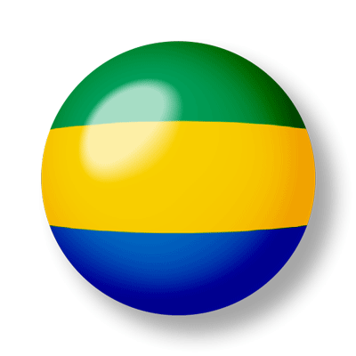 ガボン共和国の国旗-ビー玉