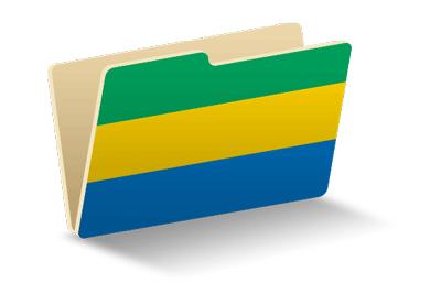 ガボン共和国の国旗-フォルダ