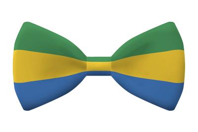 ガボン共和国の国旗-蝶タイ
