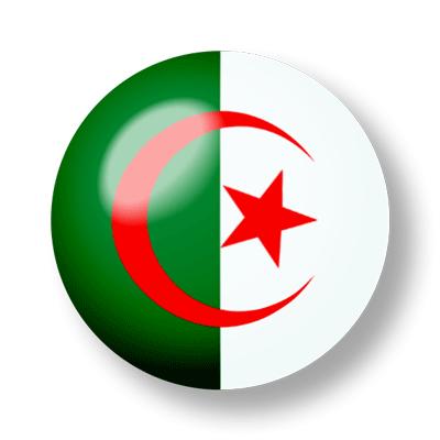 アルジェリアの国旗-ビー玉