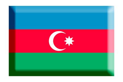 アゼルバイジャン共和国の国旗-板チョコ