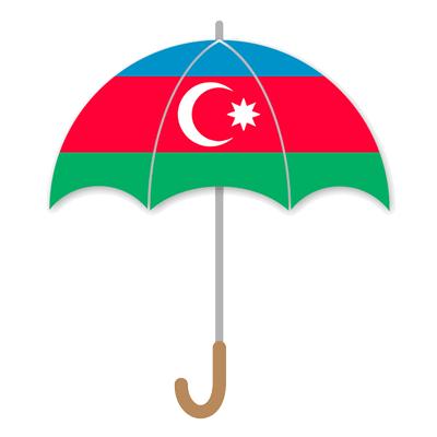 アゼルバイジャン共和国の国旗-傘