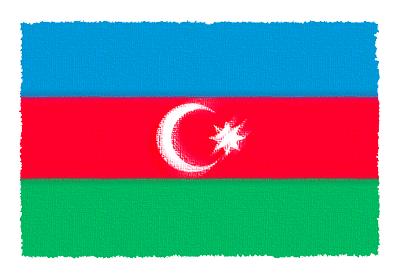 アゼルバイジャン共和国の国旗-パステル