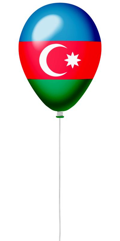 アゼルバイジャン共和国の国旗-風せん