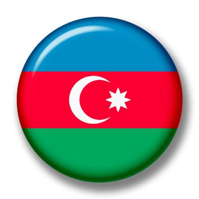 アゼルバイジャン共和国の国旗-缶バッジ