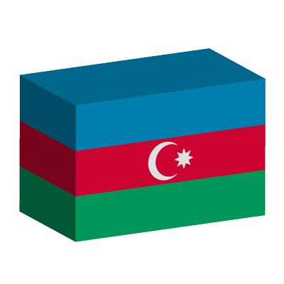 アゼルバイジャン共和国の国旗-積み木
