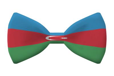 アゼルバイジャン共和国の国旗-蝶タイ