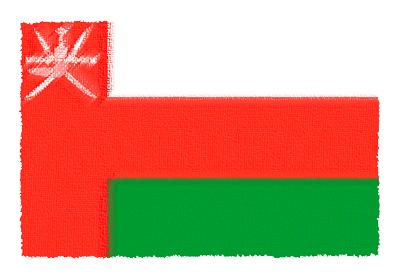 オマーン国の国旗-パステル