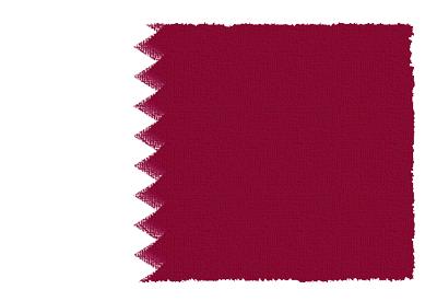 カタール国の国旗-パステル