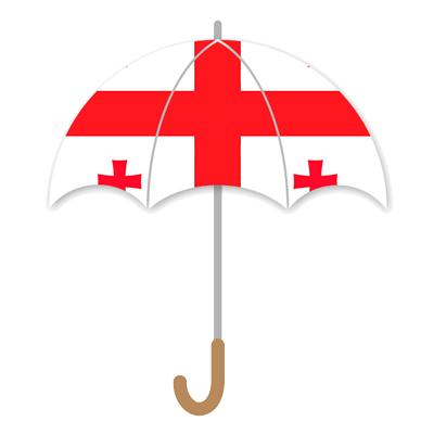 ジョージアの国旗-傘