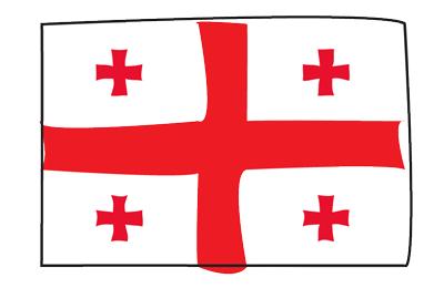 ジョージアの国旗-グラフィティ