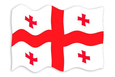ジョージアの国旗-波