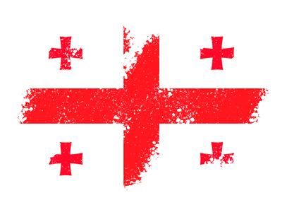 ジョージアの国旗-クレヨン1