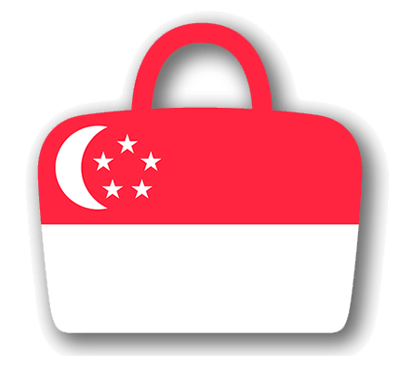 シンガ・ポール共和国の国旗-バッグ