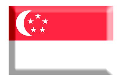 シンガ・ポール共和国の国旗-板チョコ