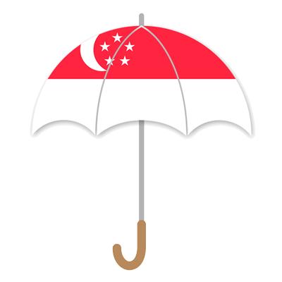 シンガ・ポール共和国の国旗-傘