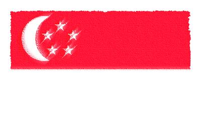 シンガ・ポール共和国の国旗-パステル