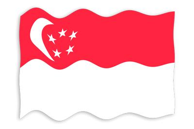 シンガ・ポール共和国の国旗-波