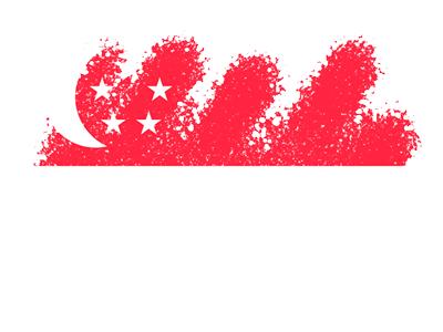 シンガ・ポール共和国の国旗-クレヨン1