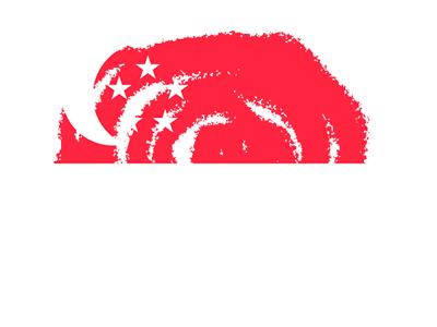 シンガ・ポール共和国の国旗-クラヨン2
