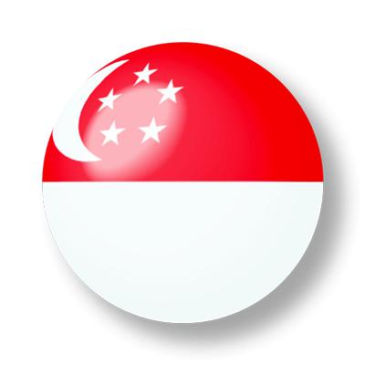 シンガ・ポール共和国の国旗-ビー玉