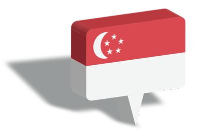 シンガ・ポール共和国の国旗-マップピン