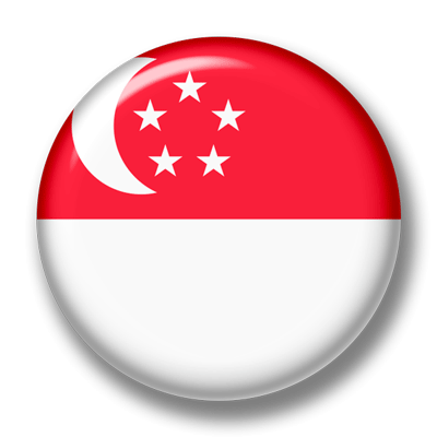 シンガ・ポール共和国の国旗-缶バッジ