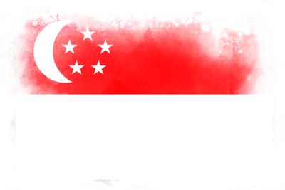 シンガ・ポール共和国の国旗-水彩風