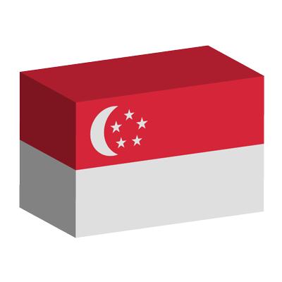 シンガ・ポール共和国の国旗-積み木