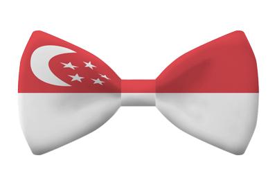 シンガ・ポール共和国の国旗-蝶タイ