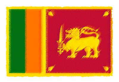 スリランカ民主社会主義共和国の国旗-パステル