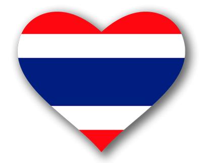 タイ王国の国旗-ハート