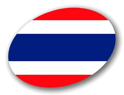 タイ王国の国旗-楕円
