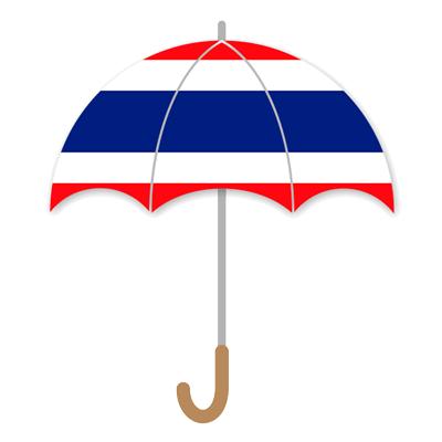 タイ王国の国旗-傘