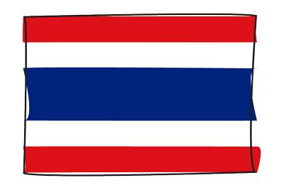 タイ王国の国旗-グラフィティ