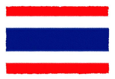タイ王国の国旗-パステル