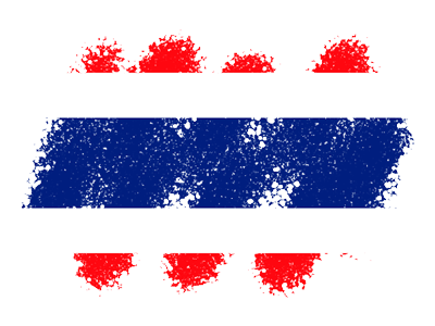 タイ王国の国旗-クレヨン1