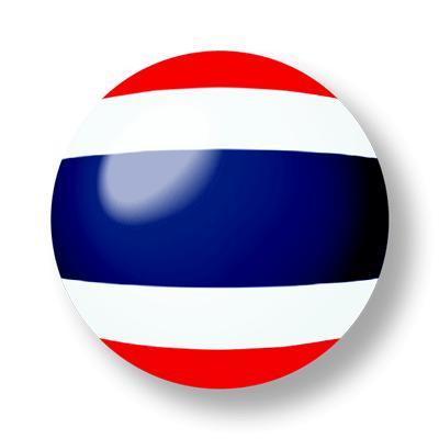 タイ王国の国旗-ビー玉