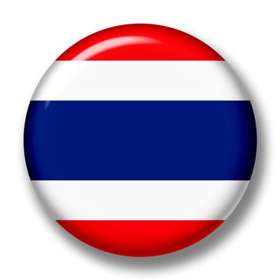 タイ王国の国旗-缶バッジ