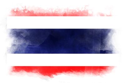 タイ王国の国旗-水彩風